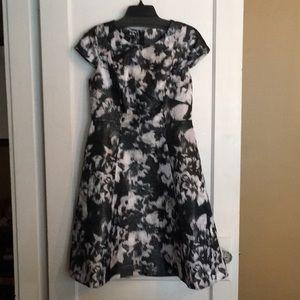 Talbots silk black & light pink knee length Dress